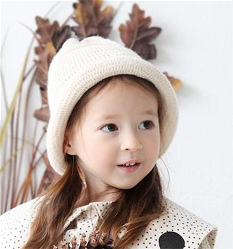 Kids Winter Hat - Baby Toddler Knitted beret Hat Plush Wool Beanie Cap