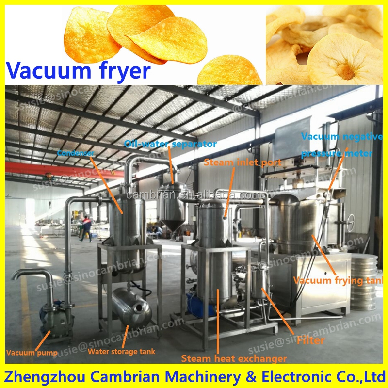 Low temperature less oil vacuum fryer for crispy jackfruit chips with best taste