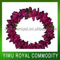 Purple Party Decoration Silk Artificial Hawaii Flower Necklace Lei