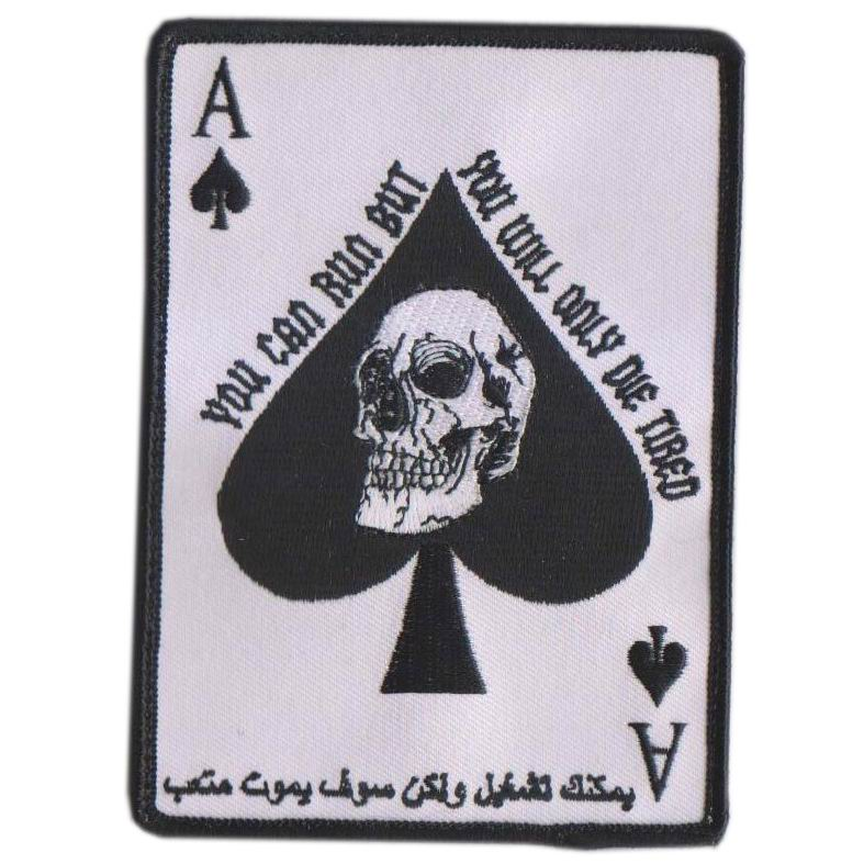 spade death card  Arabic Ace Of Spades Death Card Tactical Badge Morale Patch - Buy Arabic  Ace Of Spades Death Card Tactical Badge Morale Patch,Arabic Ace Of Spades  ...
