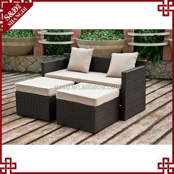 S D Heisser Verkauf Terrasse Lounge Sofa Terrasse Rattan Outdoor Sofa