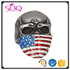 Europe and the United States vintage fashion black titanium steel flag skull jewelry men ring model