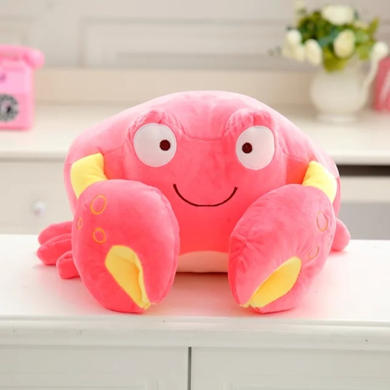 2017 creative crab shaped pillow plush toy for nap