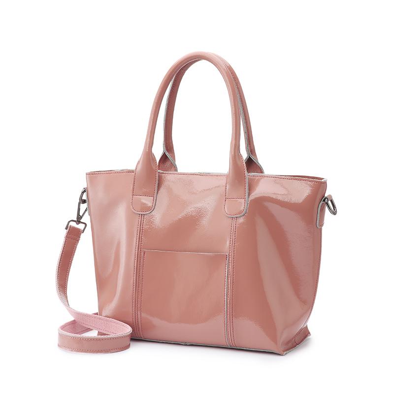 Realer женские сумки из мягкой лакированной кожи с короткими ручками сумка на плечо высокого качества для женщин сумка через плечо с карманами...(Китай)