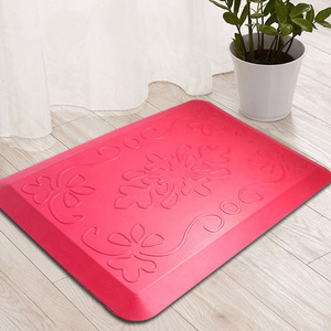 High Quality Fireproof Anti Slip Antifatigue PU Front Door Mats Red