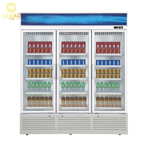 Restaurant Upright industrial heavy duty beverage refrigerator for supermarket