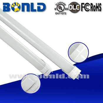 Aluminum+PC Milky Cover 130lm/w LED Tube 18W 4FT 1200mm T8, UL DLC