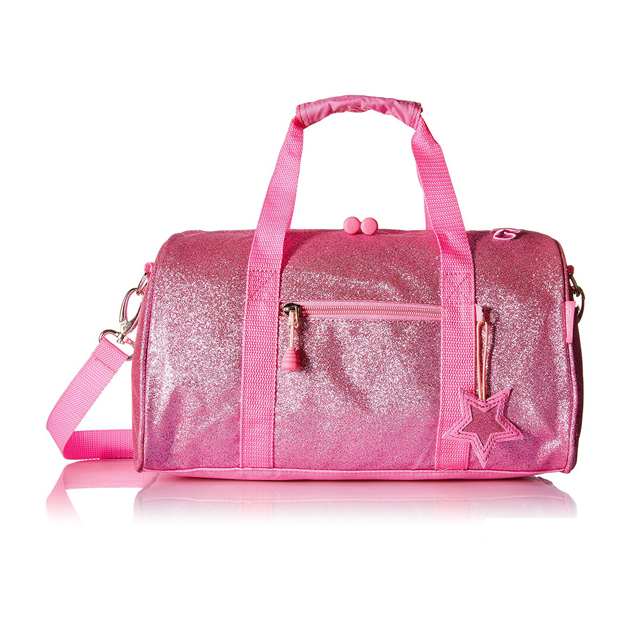 Fashion shining glitter ladies fancy waterproof large travel duffle bag