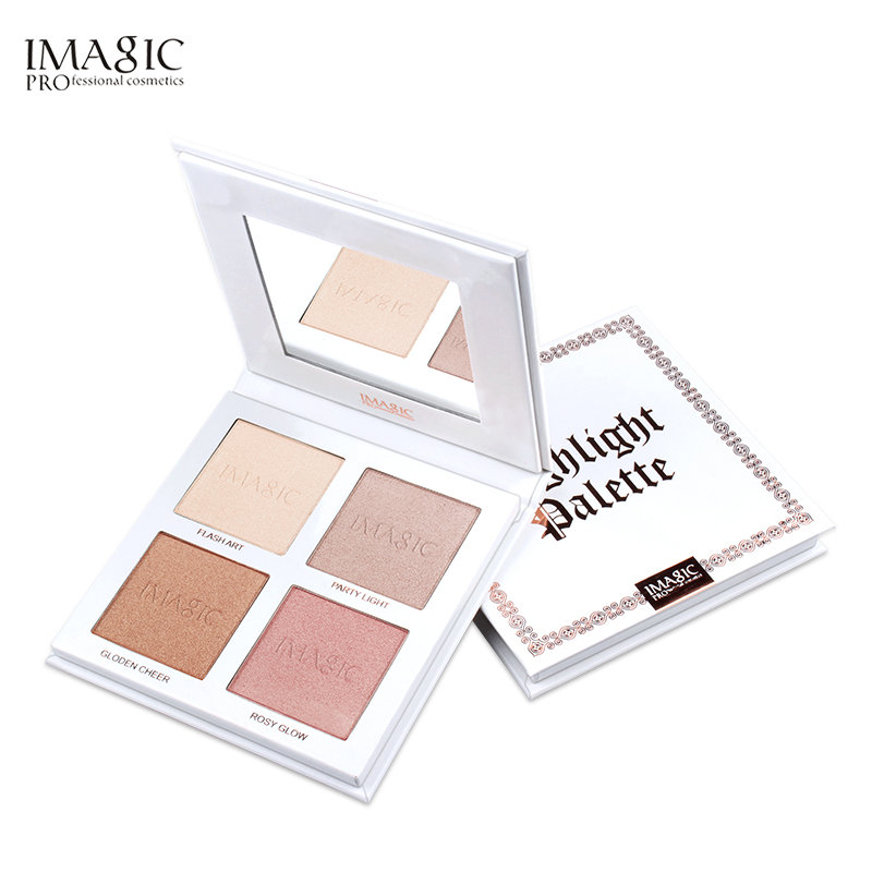 IMAGIC new arrival highlighter private label 4 colors powder highlighter palette highlighter makeup фото