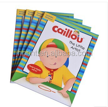 Hot sale coloring book sticker printing