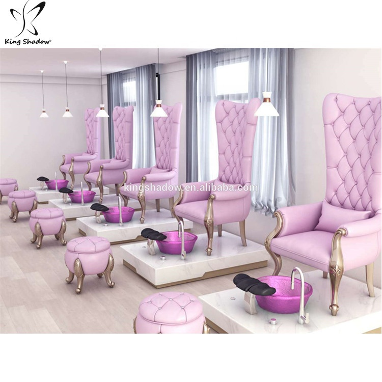 Alibaba.com / Kingshadow new arrival luxury nail salon furniture  pedicure spa chair with jet