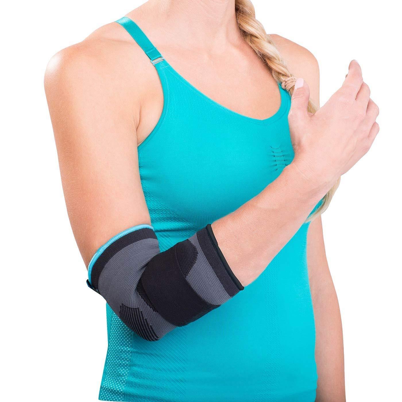 a58be01ebf Get Quotations · DonJoy Advantage DA161ES02-BLK-M Deluxe Elastic Elbow for  Sprains, Strains, Golfer's