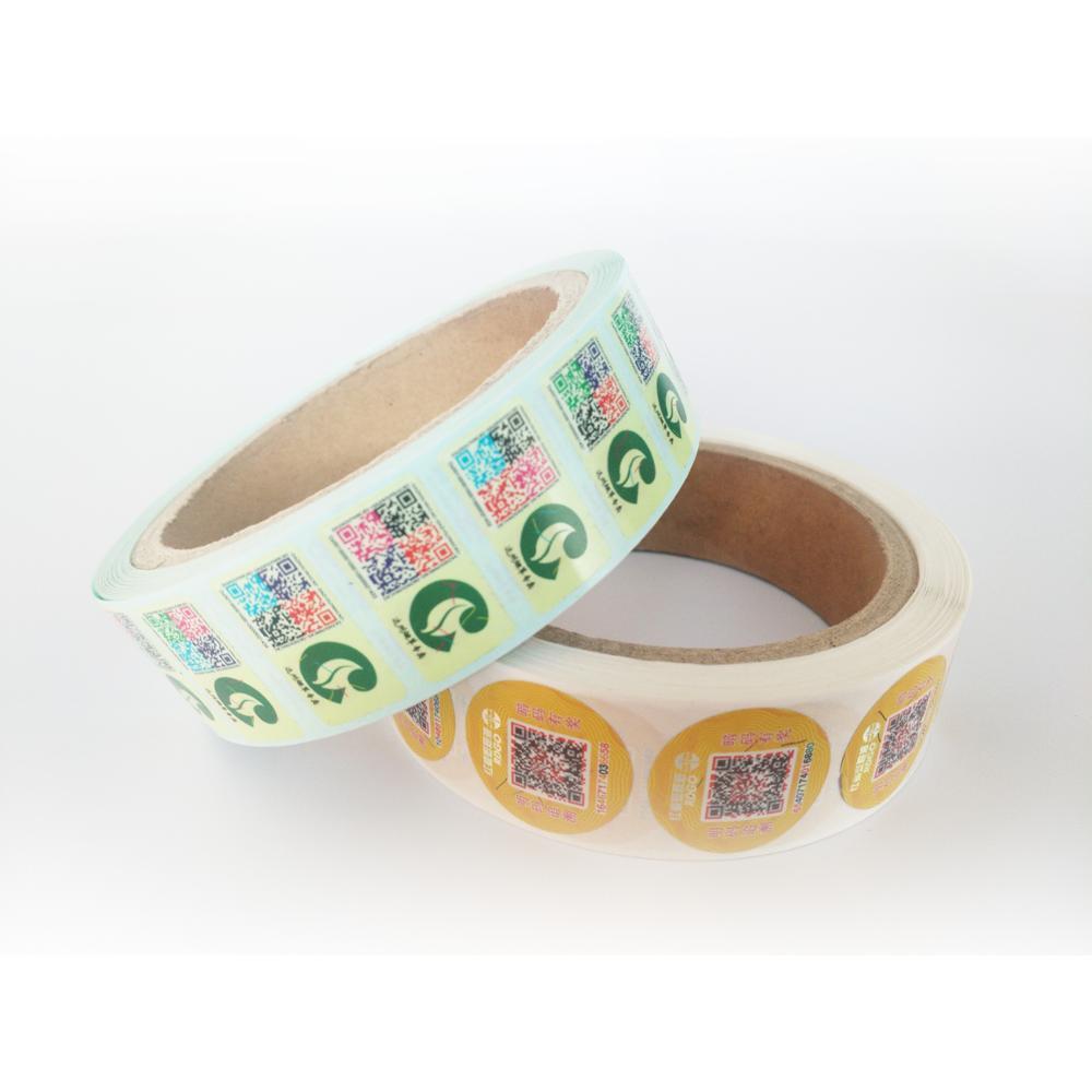Cheap price custom sock die cut stickers qr code shrink sleeve label for bottle