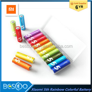 Newest Xiaomi ZMI Rainbow Colorful Alkaline Battery The 5th AA 1.5V With Maxell Cell Storage Box aa Environmentally Friendly