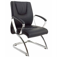 metal modern office waiting room chairs luxury leather RF-V003
