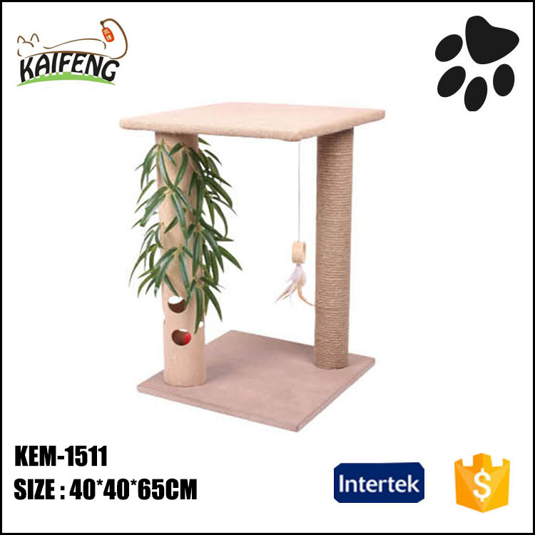 Wholesale funny cat scrathcing post furniture, leather cat scratcher sisal toys cat tree