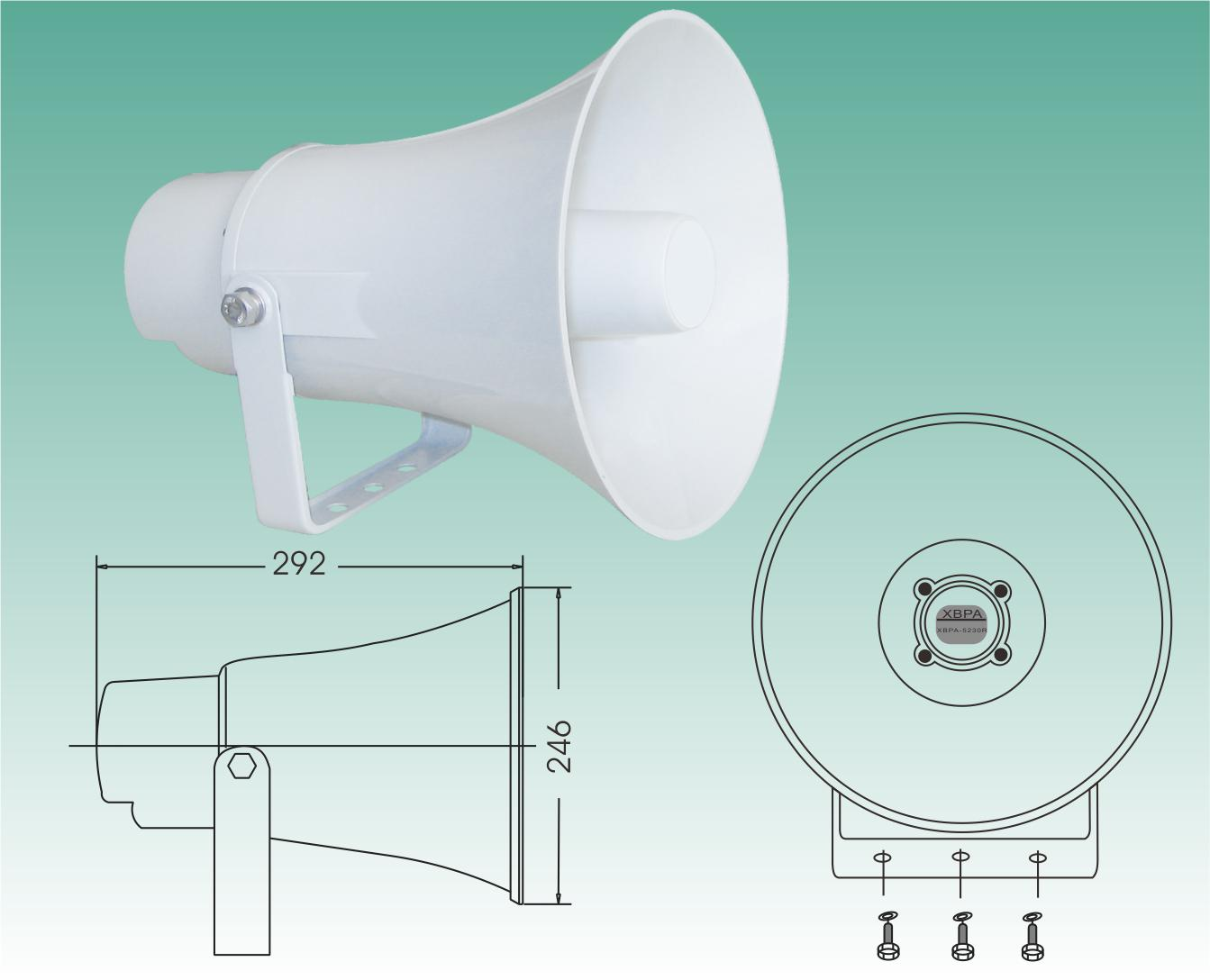 GSM Wireless public address broadcasting system horn loudspeaker 30W