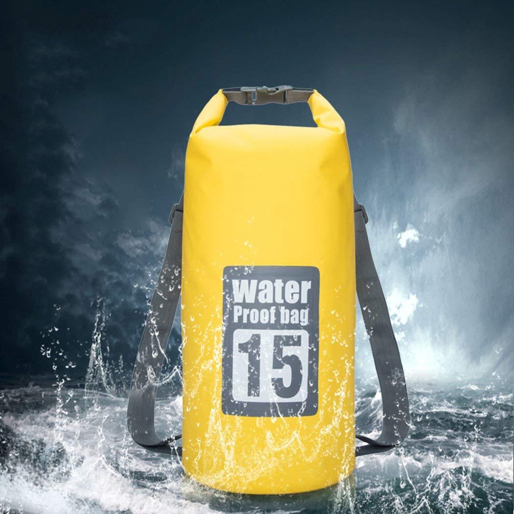 L-SRONG Outdoor Drifting Waterproof Bucket Bag Beach Waterproof Bucket Bag PVC Net Waterproof Bag Waterproof Bucket Bag Outdoor Sports Bag Shoulder Waterproof Bag