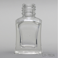 LX-782A free sample!2016 most popular 5ml clear bottle,empty glass nail polish bottle
