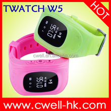 Wrist watch gps tracking device for kids Real-time monitoring SOS Button Predometer Removal Alarm TWATCH W5 Children GPS watch