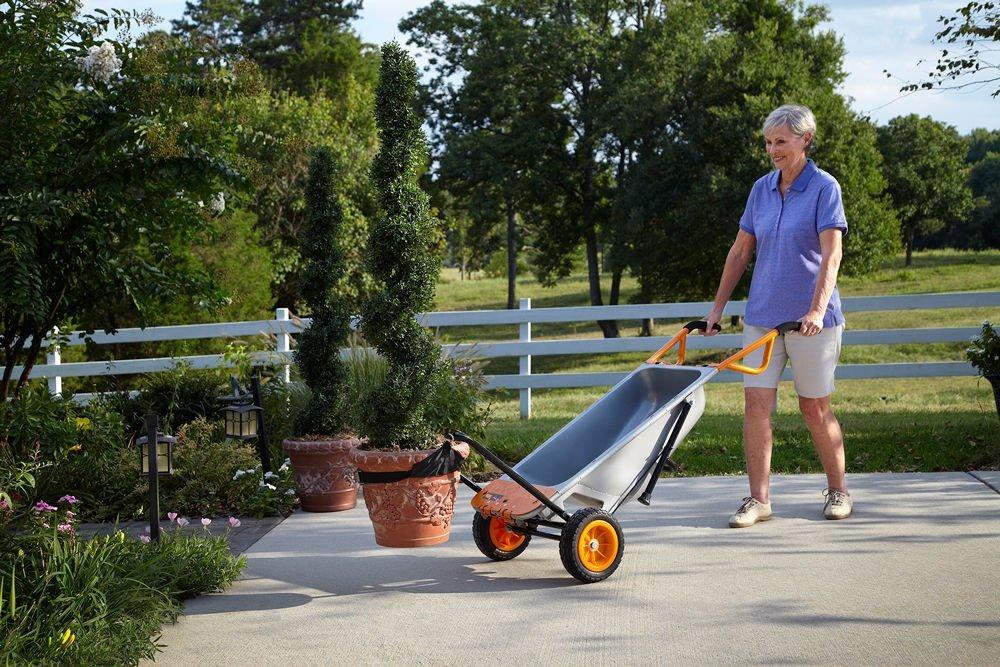 Wheelbarrow Garden Yard Cart + Water Hauler WG050- WORX-8-in-1-Aerocart