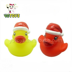 China Manufacture new plastic christmas ducky in USA&Europe,merry christmas plastic toys,Xmas customized ducky