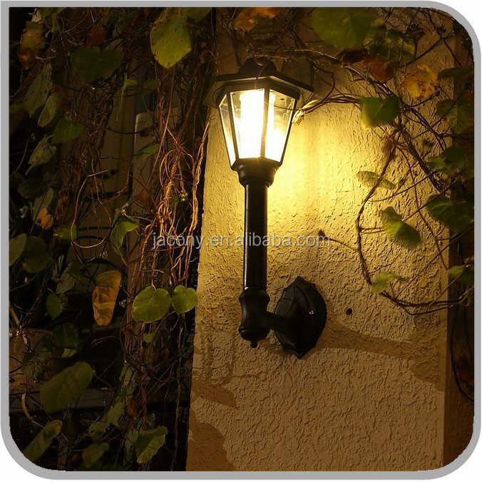 Vintage Style Cordless HEXAGONAL solar outdoor LED lantern wall light lamp for entrance Exterior hallway porch (CB-D521W)