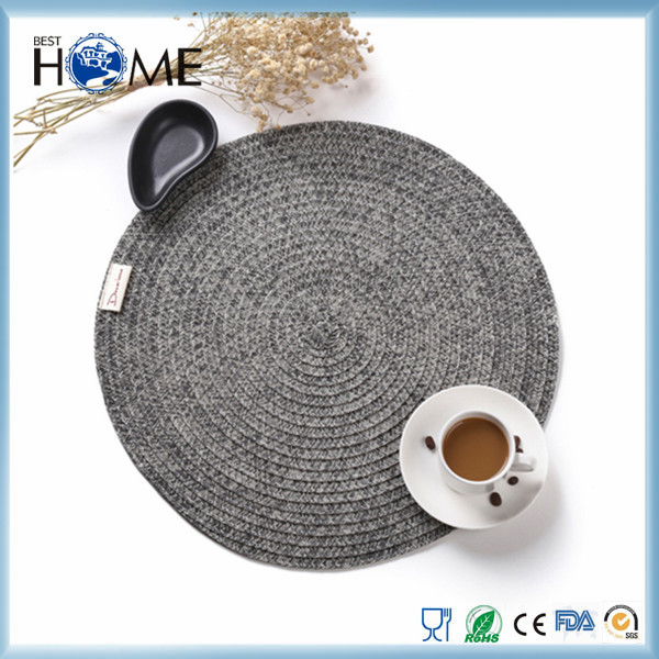 Hot sale Round PVC Woven Placemat And Table Mat and Dish Mat Pvc