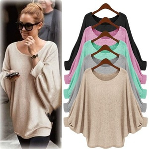 Spring Irregular Girl Knitting Cape Loose Women Sweater