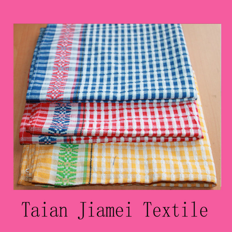 dish cleaning cloths 100% cotton woven kitchen towel