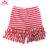 Adorable Children Baby Girls Summer Icing Ruffle Shorts Cotton Kids Red/White Solid Stripes Ruffle Icing Shorts For Girls
