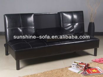Click Clack Leather 3 Seater Sofa Bed Fold Down Table Buy 3