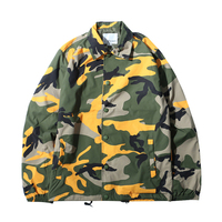 High Quality Winter Outdoor Activity Camo Coaches Jacket Men