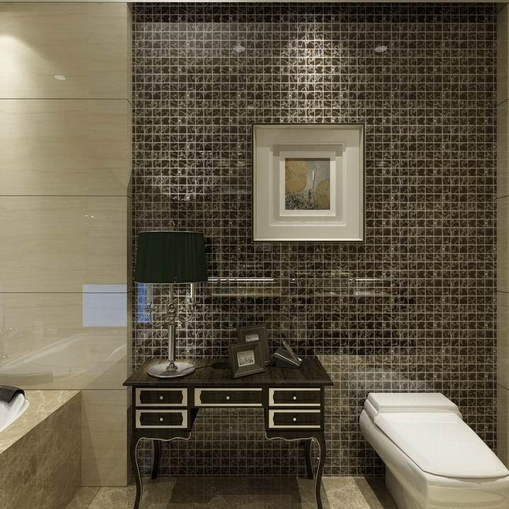 Piastrelle bagno mosaico marrone - Mosaico vetro bagno ...