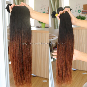 Hot Fashion Brazilian Human Hair Ombre Light Brown Weave