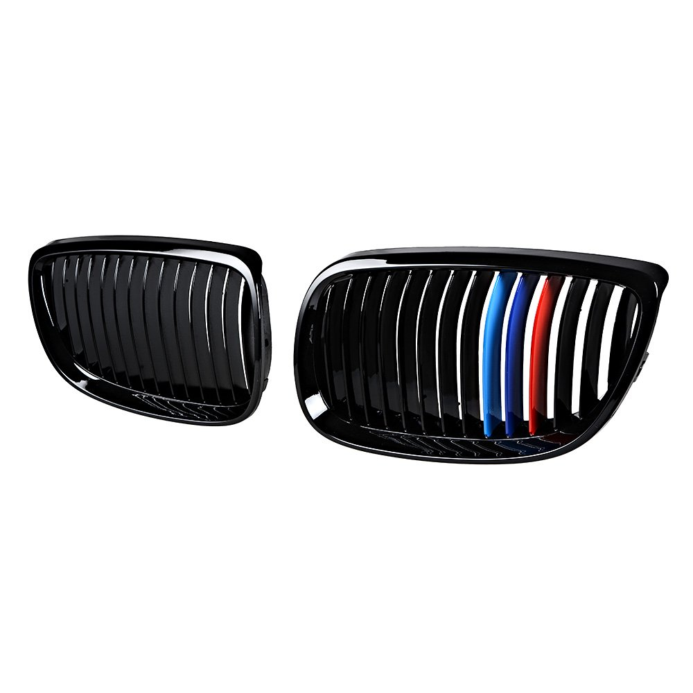 Set Glossy Black M-Color LH RH Kidney Grille Grill for BMW 3-Series 07-10 E92 Coupe E93 Convertible 08-13 M3 2DR