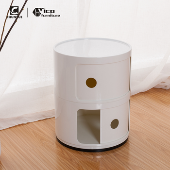 Unique New White Round Bedside Tables