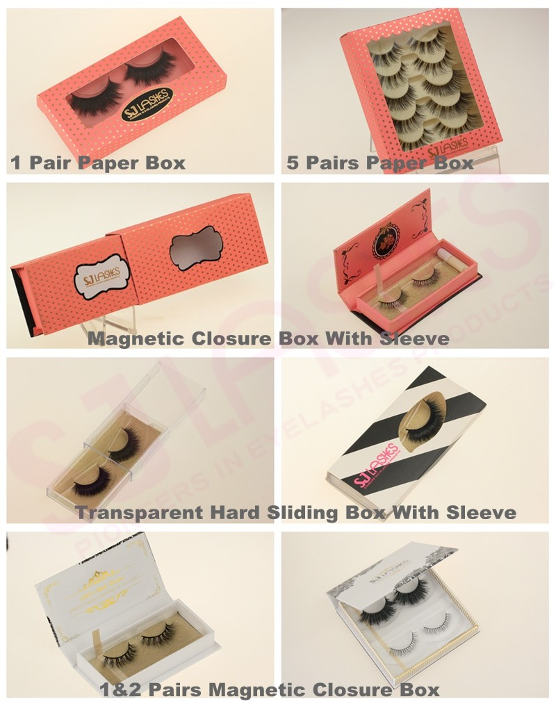 Magnetic plastic round own brand logo boxes 3D Mink 3D Silk false strip eyelashes packaging designs boxes
