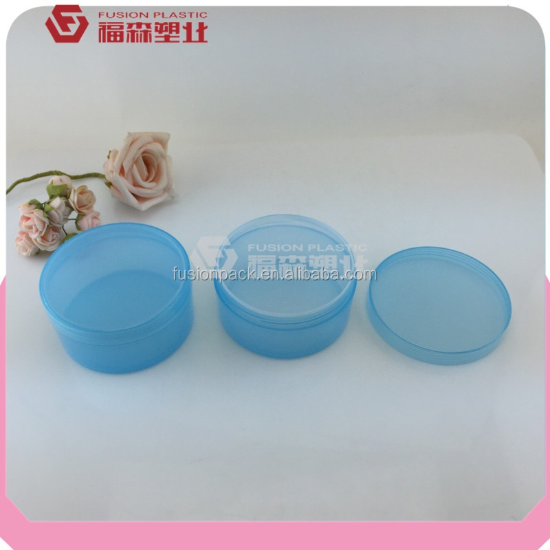 Round pp plastic hair/face mask jar container with inner cap