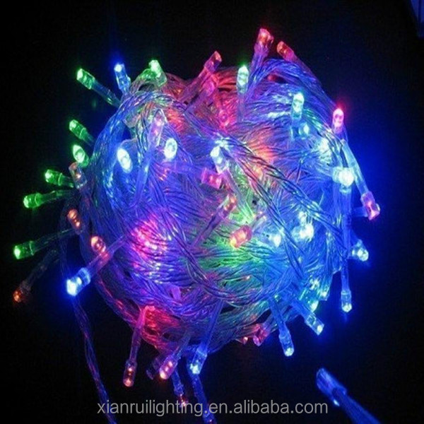 Holiday lighting christmas decoration 100LED blubs 10m RGB string light