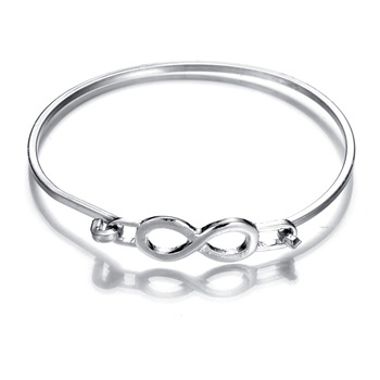 Gold Silver Cz Infinity Bracelets For Women Eight Shape Charm Bangles Celtic Figure Of