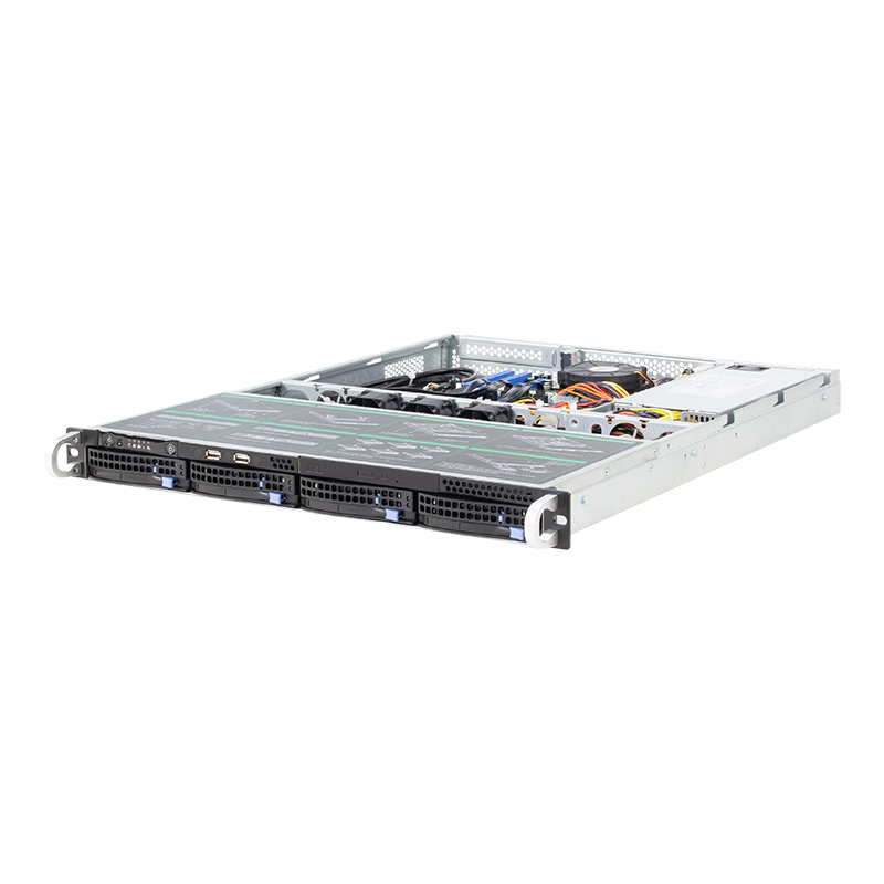Hot-ขาย MINI SAS backplane 1U 4bay OEM/ODM NAS Server กรณี