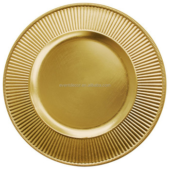 13\u0026quot; round antique gold plastic charger plates for party supplies  sc 1 st  Alibaba & 13\