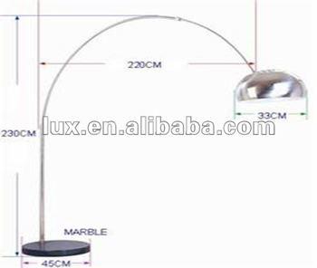 Marble Base Arc Floor Lamp
