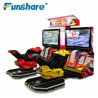 "high quality luxury 42"" LCD version children TT motorcycle 3d coin operated driving car arcade game machine"
