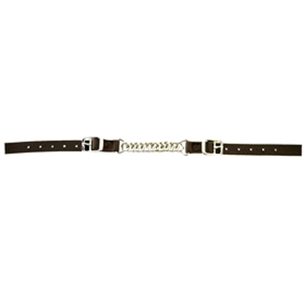"HILASON 5/8"" X 19"" Western Horse TACK Nylon Curb Strap Twisted Chain Brown"