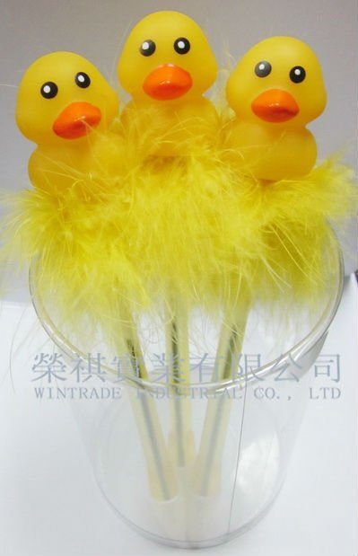 Easter Feather Duck Pen, Easte Duck Gift Pen Toy