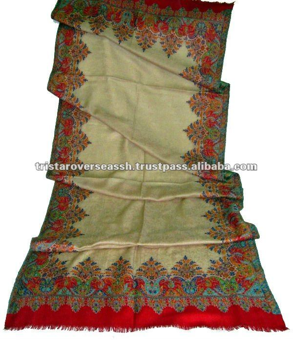 Natural wool kani pashmina shawls