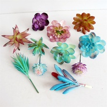 DIY Originality Floral Accessory Color Intrigue Blue Succulents Artificial Flower