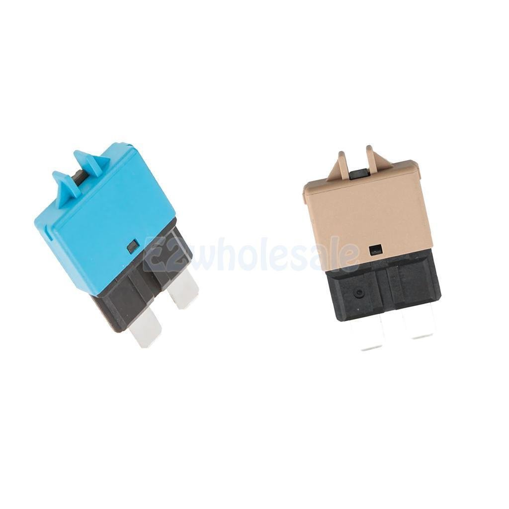 2pcs Automatic Resettable Fuse Auto Marine Circuit Breaker Blade 5A 15A 12V
